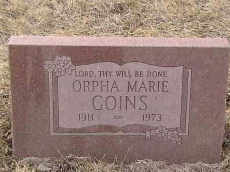 GOINS, ORPHA MARIE - Sarpy County, Nebraska | ORPHA MARIE GOINS - Nebraska Gravestone Photos