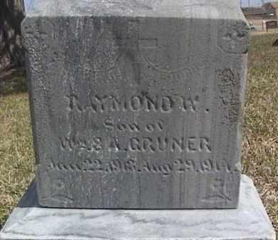 GRUNER, RAYMOND W. - Sarpy County, Nebraska | RAYMOND W. GRUNER - Nebraska Gravestone Photos