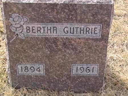 GUTHRIE, BERTHA - Sarpy County, Nebraska | BERTHA GUTHRIE - Nebraska Gravestone Photos
