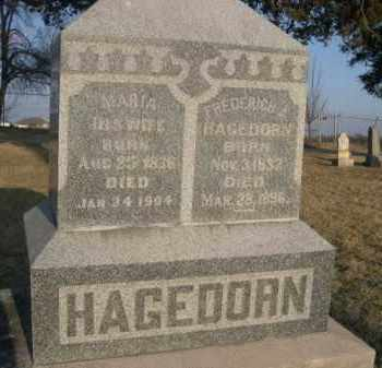 HAGEDORN, FREDERICH A. - Sarpy County, Nebraska | FREDERICH A. HAGEDORN - Nebraska Gravestone Photos