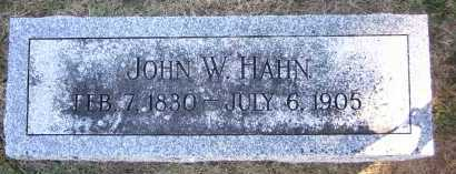 HAHN, JOHN W. - Sarpy County, Nebraska | JOHN W. HAHN - Nebraska Gravestone Photos