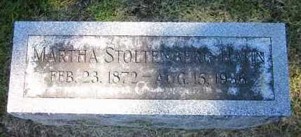 HAHN, MARTHA - Sarpy County, Nebraska | MARTHA HAHN - Nebraska Gravestone Photos