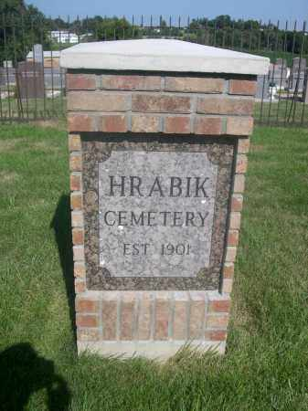 *HARABIK CEMETERY, SIGN FOR - Sarpy County, Nebraska | SIGN FOR *HARABIK CEMETERY - Nebraska Gravestone Photos