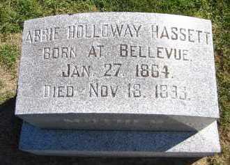 HASSETT, ABBIE - Sarpy County, Nebraska   ABBIE HASSETT - Nebraska Gravestone Photos