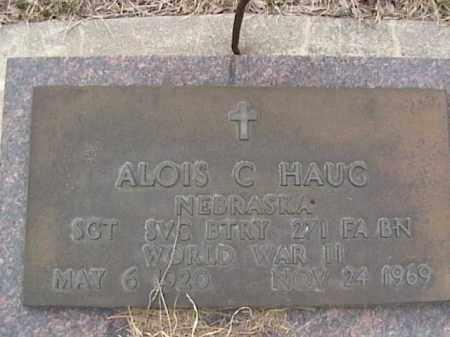 HAUG, ALOIS C. - Sarpy County, Nebraska   ALOIS C. HAUG - Nebraska Gravestone Photos