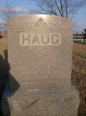 HAUG, MARIE - Sarpy County, Nebraska   MARIE HAUG - Nebraska Gravestone Photos