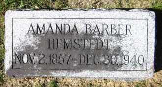 HEMSTEDT, AMANDA - Sarpy County, Nebraska   AMANDA HEMSTEDT - Nebraska Gravestone Photos