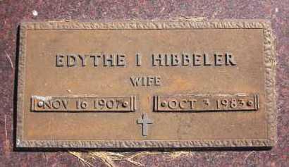 HIBBELER, EDYTHE I. - Sarpy County, Nebraska   EDYTHE I. HIBBELER - Nebraska Gravestone Photos