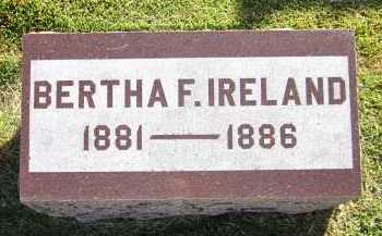 IRELAND, BERTHA F. - Sarpy County, Nebraska | BERTHA F. IRELAND - Nebraska Gravestone Photos