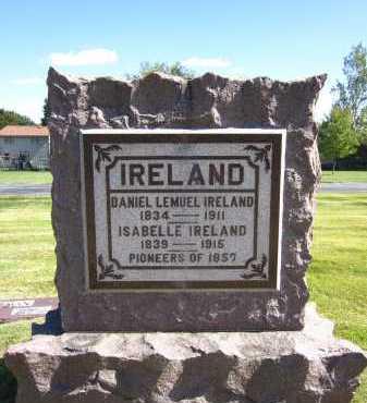 IRELAND, DANIEL LEMUEL - Sarpy County, Nebraska | DANIEL LEMUEL IRELAND - Nebraska Gravestone Photos