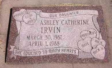 IRVIN, ASHLEY CATHERINE - Sarpy County, Nebraska | ASHLEY CATHERINE IRVIN - Nebraska Gravestone Photos