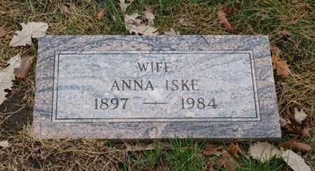 ISKE, ANNA - Sarpy County, Nebraska | ANNA ISKE - Nebraska Gravestone Photos