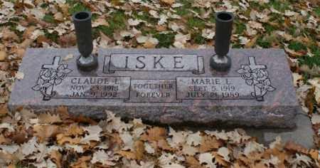 ISKE, CLAUDE L. - Sarpy County, Nebraska | CLAUDE L. ISKE - Nebraska Gravestone Photos