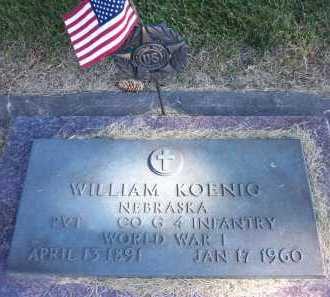 KOENIG, WILLIAM - Sarpy County, Nebraska | WILLIAM KOENIG - Nebraska Gravestone Photos