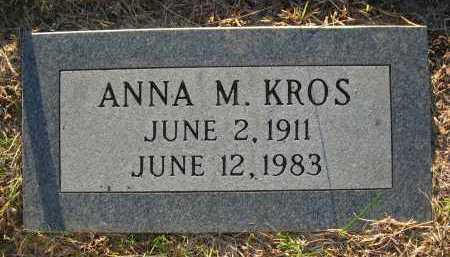 HUSAK KROS, ANNA M. - Sarpy County, Nebraska | ANNA M. HUSAK KROS - Nebraska Gravestone Photos