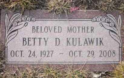 KULAWIK, BETTY D. - Sarpy County, Nebraska | BETTY D. KULAWIK - Nebraska Gravestone Photos