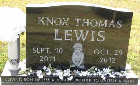 LEWIS, KNOX THOMAS - Sarpy County, Nebraska | KNOX THOMAS LEWIS - Nebraska Gravestone Photos