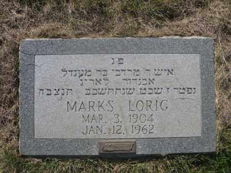 LORIG, MARKS - Sarpy County, Nebraska | MARKS LORIG - Nebraska Gravestone Photos