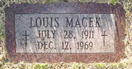 MACEK, LOUIS - Sarpy County, Nebraska | LOUIS MACEK - Nebraska Gravestone Photos