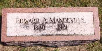 MANDEVILLE, EDWARD A. - Sarpy County, Nebraska | EDWARD A. MANDEVILLE - Nebraska Gravestone Photos
