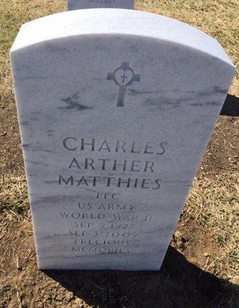 MATTHIES, CHARLES ARTHUR - Sarpy County, Nebraska   CHARLES ARTHUR MATTHIES - Nebraska Gravestone Photos