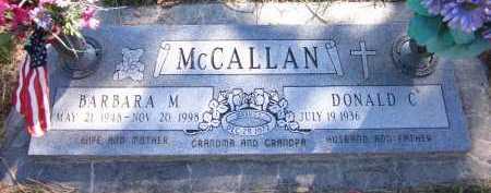 MC CALLAN, BARBARA M. - Sarpy County, Nebraska | BARBARA M. MC CALLAN - Nebraska Gravestone Photos