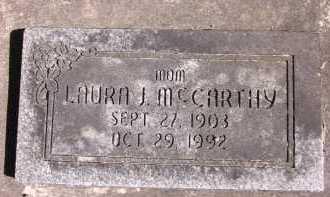 MC CARTHY, LAURA J. - Sarpy County, Nebraska | LAURA J. MC CARTHY - Nebraska Gravestone Photos