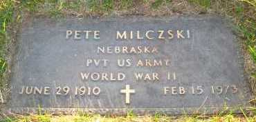 MILCZSKI, PETE - Sarpy County, Nebraska | PETE MILCZSKI - Nebraska Gravestone Photos