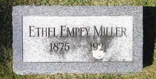 MILLER, ETHEL EMPEY - Sarpy County, Nebraska | ETHEL EMPEY MILLER - Nebraska Gravestone Photos