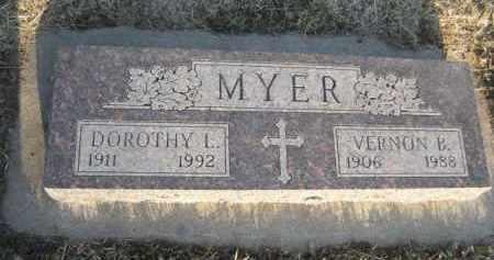 MYER, VERNON B. - Sarpy County, Nebraska | VERNON B. MYER - Nebraska Gravestone Photos