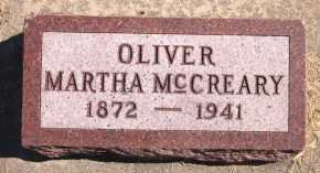 MC CREARY OLIVER, MARTHA - Sarpy County, Nebraska   MARTHA MC CREARY OLIVER - Nebraska Gravestone Photos