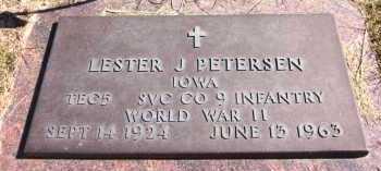 PETERSEN, LESTER J. - Sarpy County, Nebraska | LESTER J. PETERSEN - Nebraska Gravestone Photos