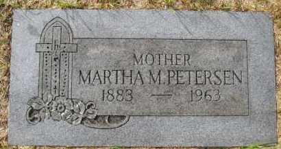 PETERSEN, MARTHA - Sarpy County, Nebraska   MARTHA PETERSEN - Nebraska Gravestone Photos