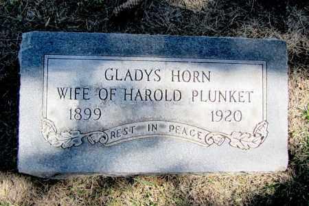 HORN PLUNKET, GLADYS - Sarpy County, Nebraska | GLADYS HORN PLUNKET - Nebraska Gravestone Photos