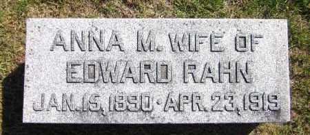 RAHN, ANNA M. - Sarpy County, Nebraska | ANNA M. RAHN - Nebraska Gravestone Photos