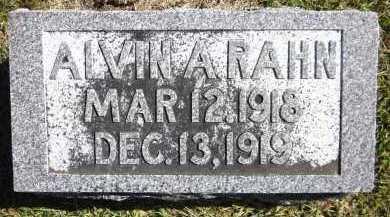 RAHN, ALVIN A. - Sarpy County, Nebraska   ALVIN A. RAHN - Nebraska Gravestone Photos