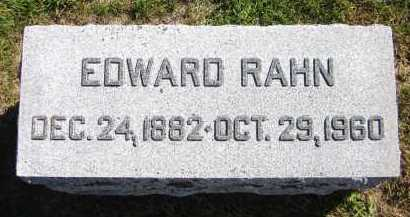 RAHN, EDWARD - Sarpy County, Nebraska | EDWARD RAHN - Nebraska Gravestone Photos