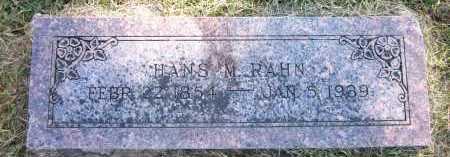 RAHN, HANS M. - Sarpy County, Nebraska | HANS M. RAHN - Nebraska Gravestone Photos