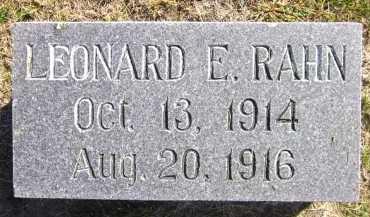 RAHN, LEONARD E. - Sarpy County, Nebraska | LEONARD E. RAHN - Nebraska Gravestone Photos