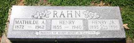 RAHN, HENRY, JR. - Sarpy County, Nebraska | HENRY, JR. RAHN - Nebraska Gravestone Photos