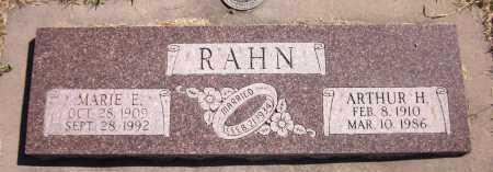 RAHN, ARTHUR H. - Sarpy County, Nebraska | ARTHUR H. RAHN - Nebraska Gravestone Photos