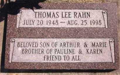 RAHN, THOMAS LEE - Sarpy County, Nebraska   THOMAS LEE RAHN - Nebraska Gravestone Photos
