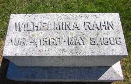 RAHN, WILHELMINA - Sarpy County, Nebraska   WILHELMINA RAHN - Nebraska Gravestone Photos