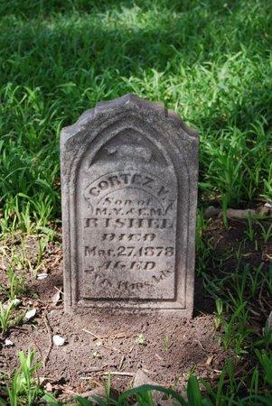 RISHEL, CORTEZ VERNON - Sarpy County, Nebraska | CORTEZ VERNON RISHEL - Nebraska Gravestone Photos