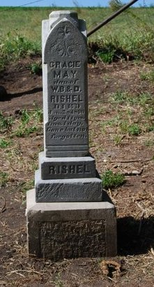 RISHEL, GRACIE MAY - Sarpy County, Nebraska | GRACIE MAY RISHEL - Nebraska Gravestone Photos