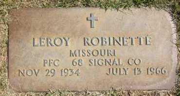ROBINETTE, LEROY - Sarpy County, Nebraska   LEROY ROBINETTE - Nebraska Gravestone Photos