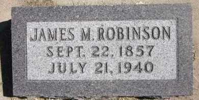 ROBINSON, JAMES M. - Sarpy County, Nebraska | JAMES M. ROBINSON - Nebraska Gravestone Photos