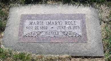 ROLL, MARIE (MARY) - Sarpy County, Nebraska   MARIE (MARY) ROLL - Nebraska Gravestone Photos