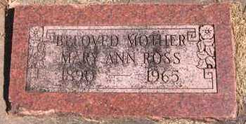 ROSS, MARY ANN - Sarpy County, Nebraska | MARY ANN ROSS - Nebraska Gravestone Photos