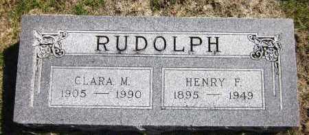 RUDOLPH, CLARA M. - Sarpy County, Nebraska | CLARA M. RUDOLPH - Nebraska Gravestone Photos